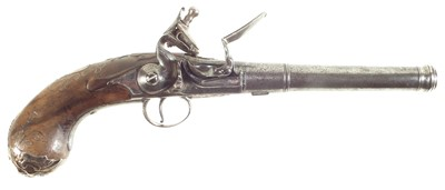 Lot Flintlock Queen Anne pistol by Walker of London