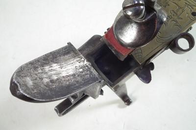 Lot Brass and steel flintlock tinder pistol lighter