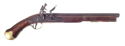 Lot Deactivated reproduction flintlock sea service pistol.