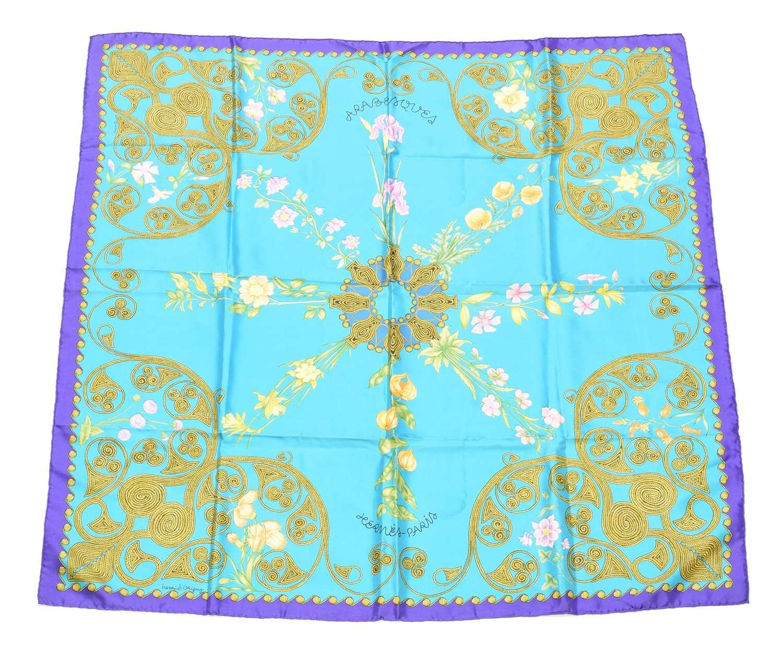 "Lot 77 - A Hermès ""Arabesques"" silk scarf by Henri d'Origny"