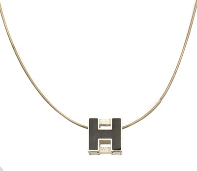 Lot 108 - A Hermès Cube H necklace