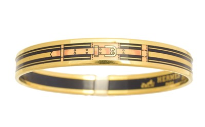 Lot 62 - A Hermès enamel bangle bracelet