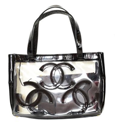 Lot 71 - A Chanel CC Transparent Tote Shoulder Bag