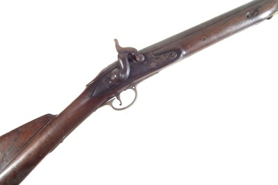 Lot Brown Bess musket converted to a Percussion sporting gun