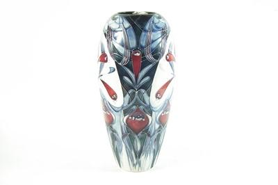 Lot 173 - Moorcroft Pottery Spirit of Liberty pattern vase, designed by Emma Bossons, ltd. ed. 103/200, 37cm height
