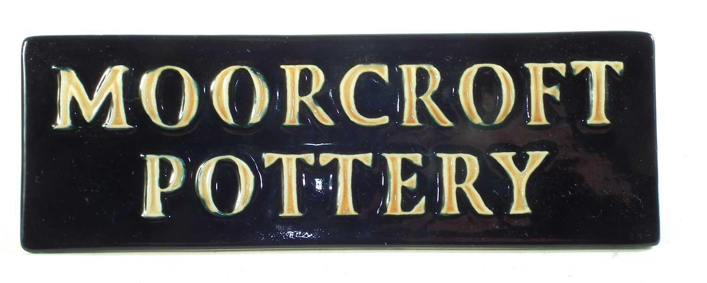 Lot 171 - Moorcroft shop display sign
