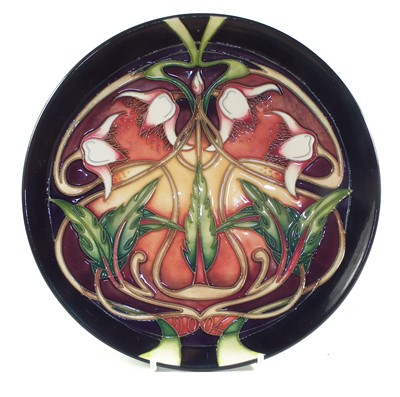 Lot 176 - Moorcroft plate by Emma Bossons