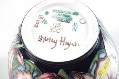 Lot 181 - Moorcroft lidded jar designed by Shirley Hayes