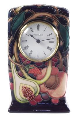 Lot 186 - Moorcroft clock designed by Emma Bossons