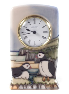 Lot 206 - Moorcroft clock designed by Kerry Goodwin / Carol Lovatt