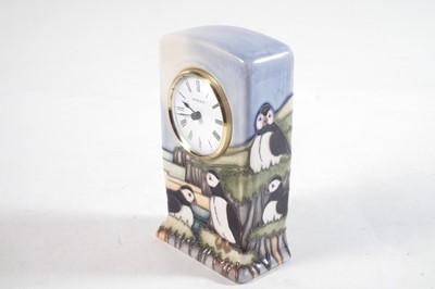 Lot Moorcroft clock designed by Kerry Goodwin / Carol Lovatt