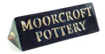 Lot 187 - Moorcroft shop sign