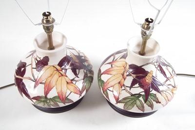 Lot 207 - Pair of Moorcroft lamps