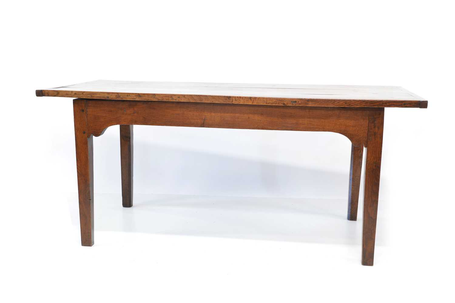 414 - 18th Century oak and elm dining table
