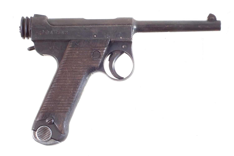 Lot 28 - Deactivated Japanese WWII Nambu 8mm semi-automatic pistol