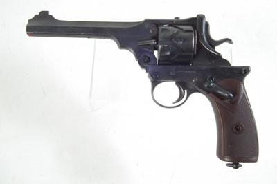 Lot Deactivated Webley Fosbery .455 semi-automatic revolver