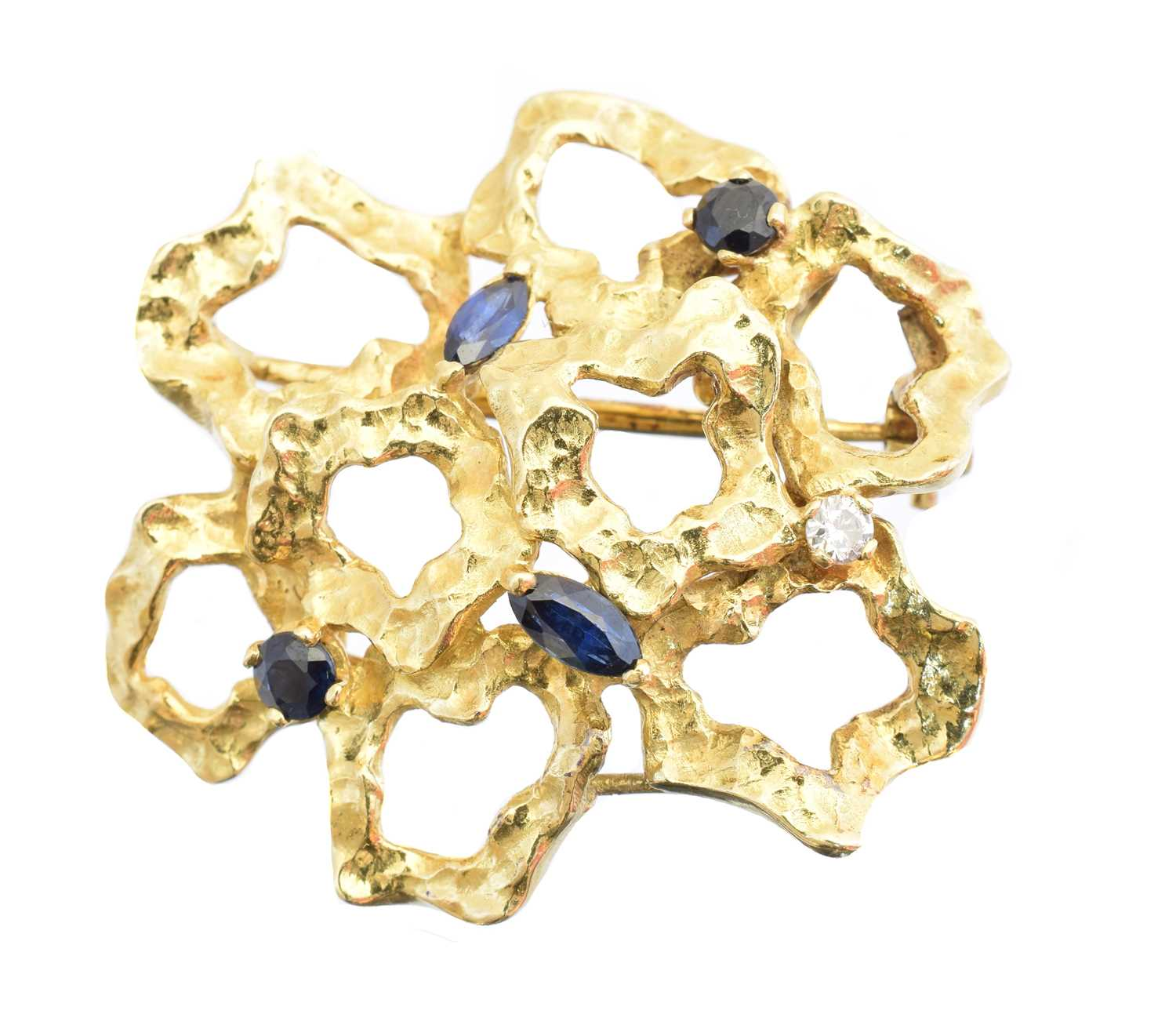 Lot A 1960s sapphire and diamond brooch
