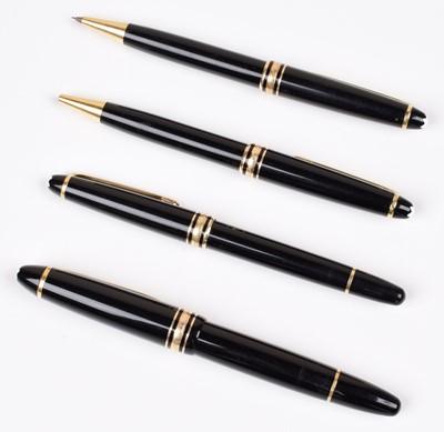 Lot 144 - Montblanc Meisterstuck pen set and assorted refills.