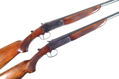 Lot Matched pair of AYA 12 bore single barrel shotguns