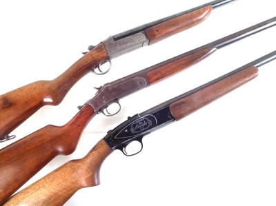 Lot Three single barrel shotguns