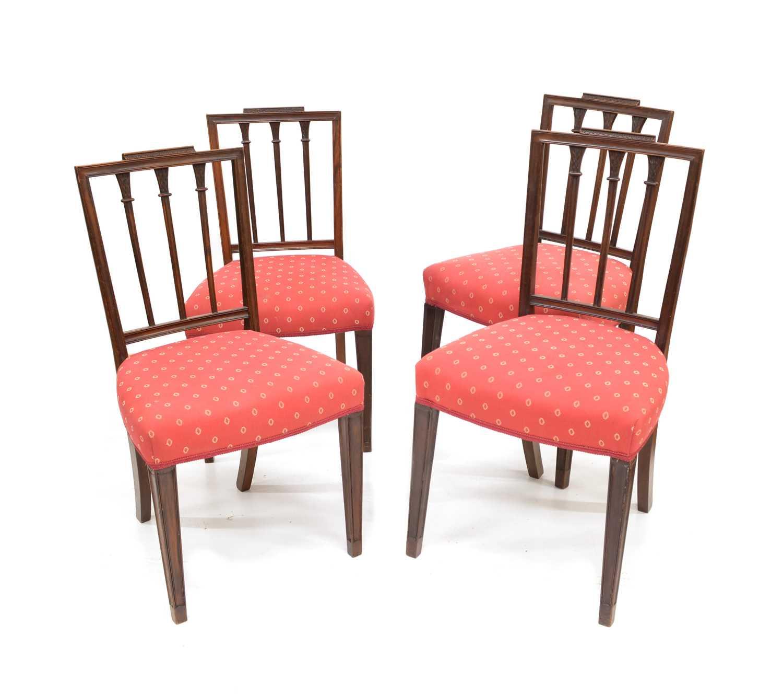 Lot 380 - Twelve Hepplewhite design single chairs