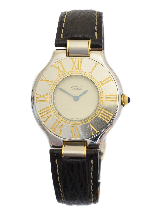 Lot A Must De Cartier 21 stainless steel quartz wristwatch