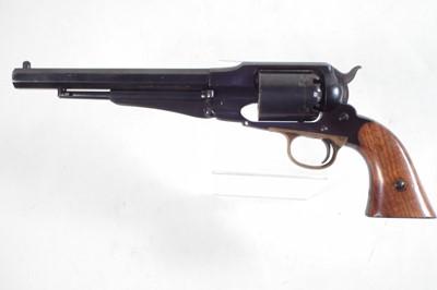 Lot Uberti .44 Model 1858 Remington black powder revolver serial number 54961