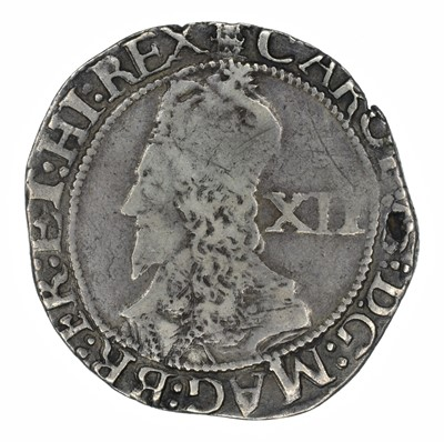 Lot 8 - King Charles I, Shilling, Oxford.