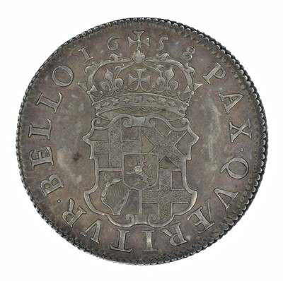 Lot 9 - Oliver Cromwell, Shilling, 1658.