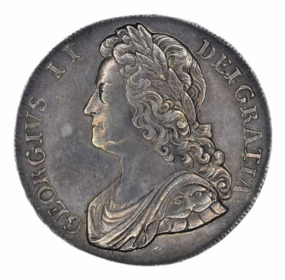 Lot 39 - King George II, Crown, 1741 D QVARTO.