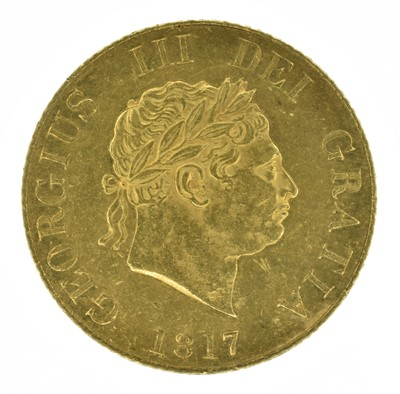Lot 52 - King George III, Half-Sovereign, 1817.