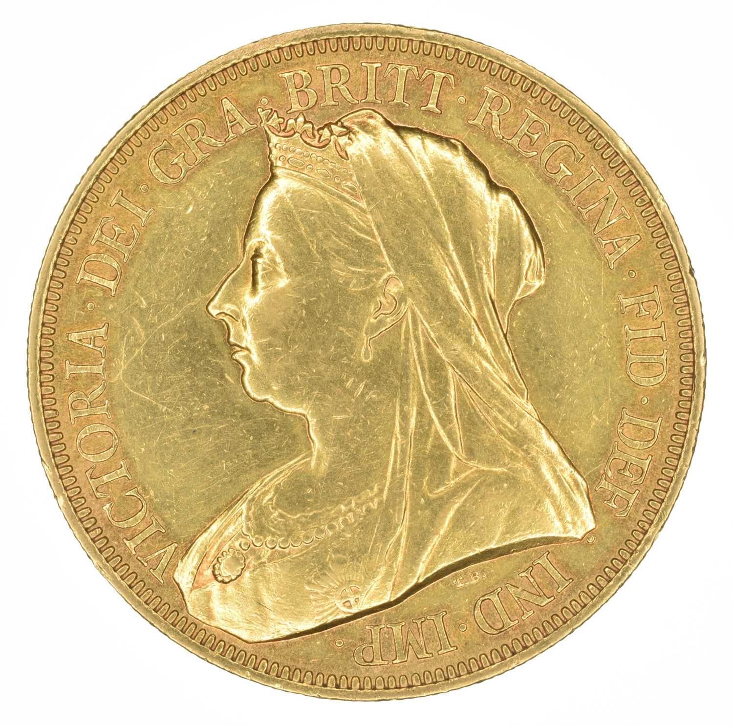 Lot 72 - Queen Victoria, Five Pounds, 1893.