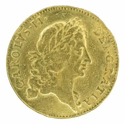 Lot 11 - King Charles II, Guinea, 1668.