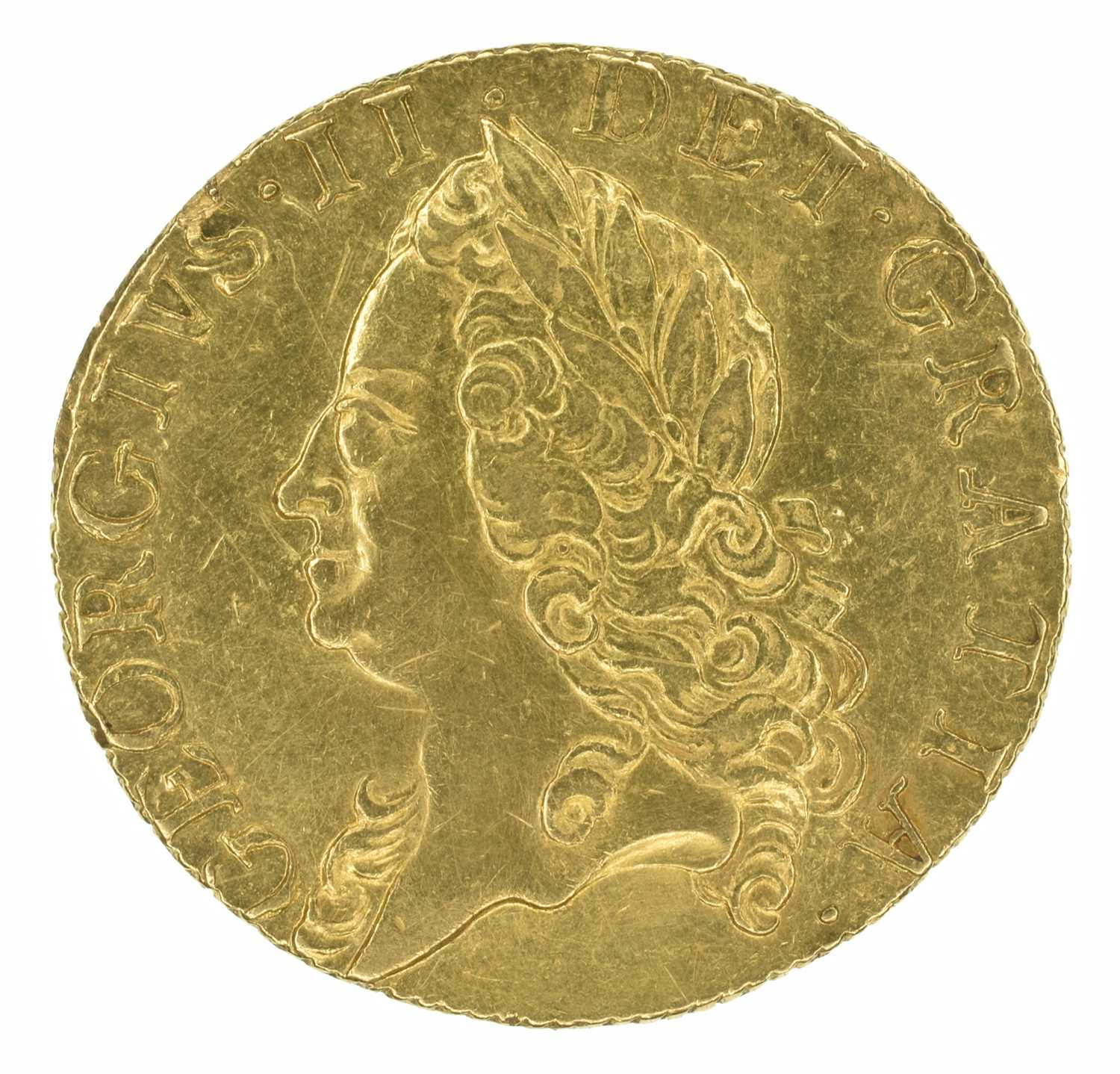 Lot 43 - King George II, Guinea, 1760.