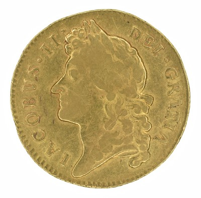 Lot 13 - King James II, Guinea, 1687.