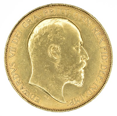 Lot 75 - King Edward VII, Five Pounds, 1902.