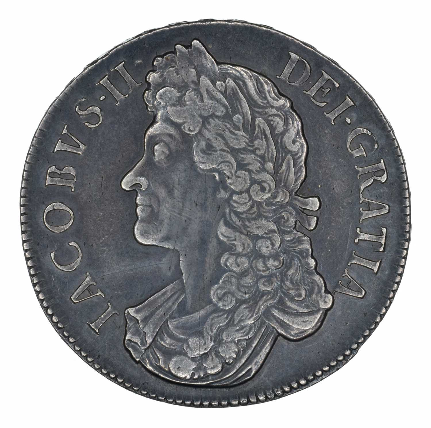 Lot 14 - King James II, Crown, 1688 QVARTO.