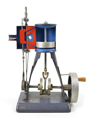 Lot 135 - Upright Steam Engine Model