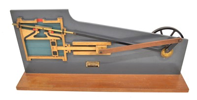 Lot Wooden  cutaway Model of a horizontal single-cylinder steam engine