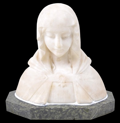 Lot 69 - Early 20th Century White Marble Bust of Mary Magdalene