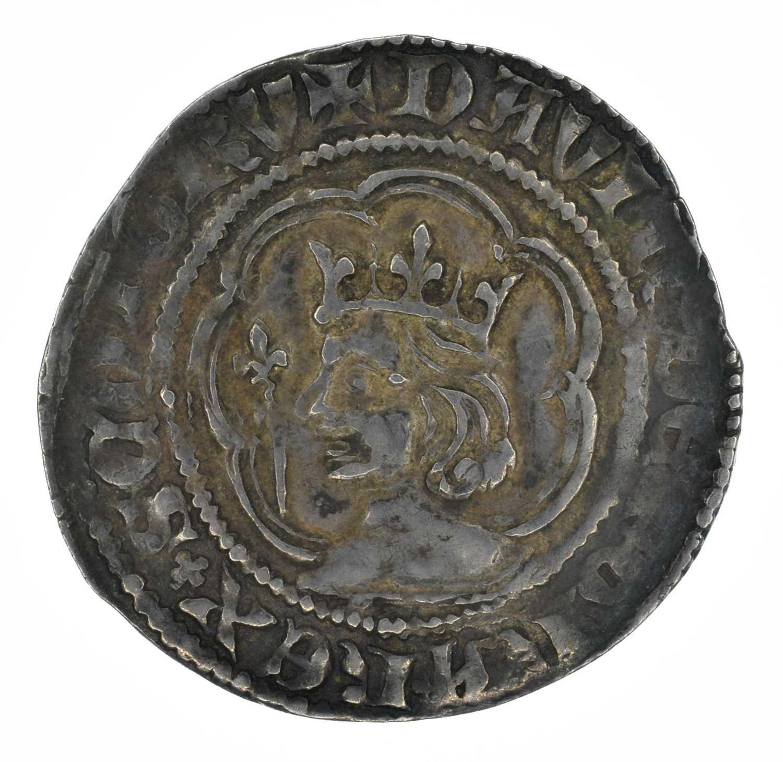 Lot 3 - Scotland, David II, Second coinage (1357-1367), Halfgroat, Edinburgh.