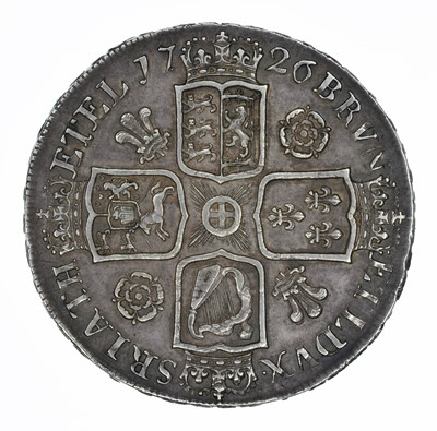 Lot 37 - King George I, Crown, 1726 D. TERTIO.