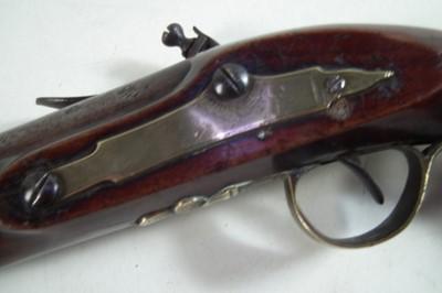 Lot 3 - Flintlock belt pistol by Bath and Pink