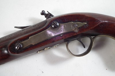 Lot Flintlock belt pistol by Bath and Pink