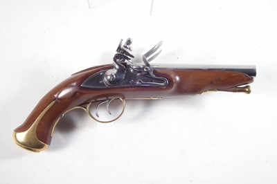 Lot 10 - Inert reproduction flintlock double barrel pistol