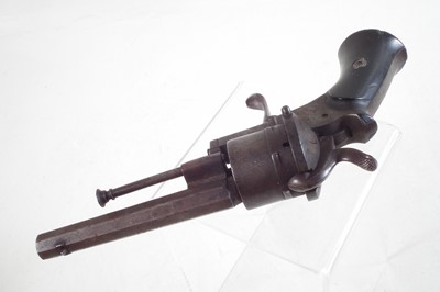 Lot Belgian Pinfire Revolver