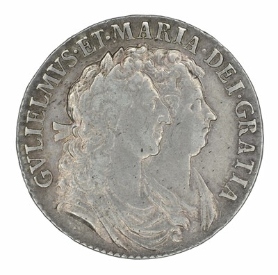 Lot 16 - William and Mary, Halfcrown, 1689.