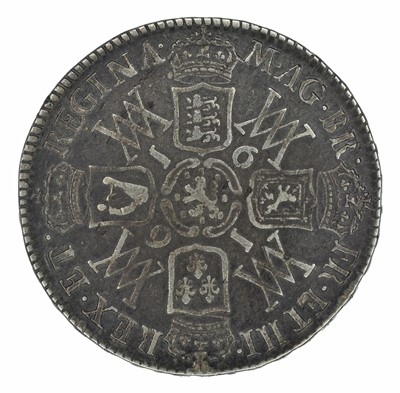 Lot 18 - William and Mary, Halfcrown, 1691.
