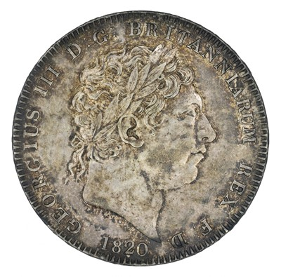 Lot 55 - King George III, Crown, 1820 LX.