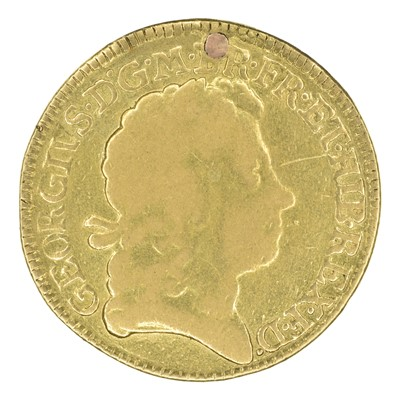Lot 36 - King George I, Guinea, 1719, plugged.